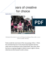 Waging Nonviolence - Forty Years of Creative Actions for Choice