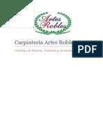 Catalogo Artes Robles