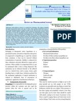 Pharmaceutical Aerosol