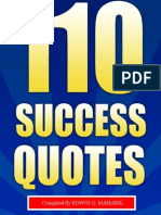 110 Success Quotes by Edwin Mamaril