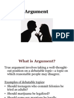 Argument From Chapter 13