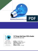 10 Things That Keeps CEOs Awake BIZ