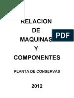Relacion de Maq y Componentes de Planta