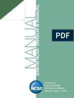 NCAA Division III Manual