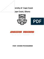 2013 University of Cape Coast Admission Brochure
