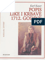 Karl Kaser, Popis Like i Krbave 1712