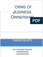 Types/ Forms of Business
