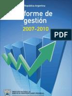 INFORME DE GESTION 2007 - 2010. SPF ARGENTINA