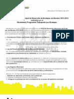 Propuestas al Plan de Desarrollo Municipal de Ecatepec