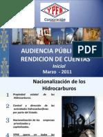 Rendicion de Cuentas_YPFB Corporacion Marzo 2011