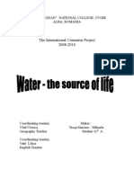 Water - The Source of Life