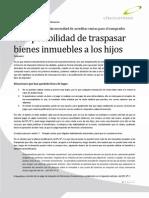 2011 01 Una Posibilidad de Traspasar Bienes Inmuebles a Los Hijos