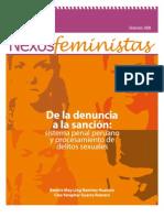 De la denuncia a la sanción:sistema penal peruano y procesamiento de delitos sexuales