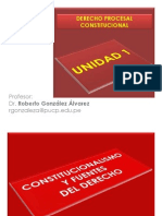 Derecho Procesal Constitucional - Unidad 1