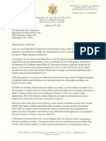 Rep. Black Letter to Secretary Napolitano