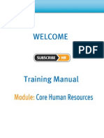 Subscribe-HR Core Human Resources Help Manual