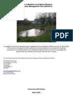 Logan's Meadow Local Nature Reserve Management Plan 2004-2014
