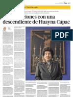 Conversaciones con una descendiente de Huayna Capac