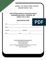 AMC FN Water Legislation Forum Registration Form Feb 2013