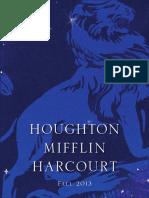 Houghton Mifflin Harcourt Fall 2013 Adult Catalog