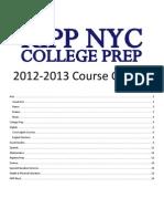 KIPP NYC College Prep Course Catalog 2012-13