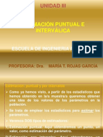 ESTIMACIÓN PUNTUAL E INTERCALICA