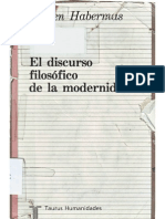 2 Habermas Juergen - El Discurso Filosofico de La Modernidad - Taurus - Madrid - 1993 - Cap1