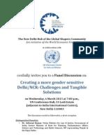 Creating a more gender sensitive Delhi/NCR