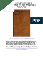 Una teoría dinámica de la personalidadSelected Papers por Kurt Lewin - Averigüe por qué me encanta!(1)