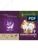 Portada del  Guión Litúrgico Semana Santa - Pascua 2013