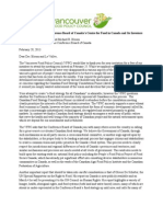 Vancouver Food Policy Council Open Letter to the Conference Board of Canada's Centre for Food in Canada and Its Investors