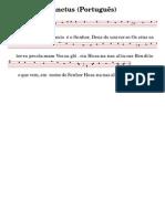 Sanctus Simples Portugues