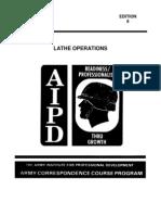 Machinist Course - Lathe Operation Manual
