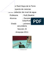 Proyecto Alarma de Nivel de Agua