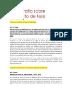 Bibliografia Sobre Proyecto de Tesis