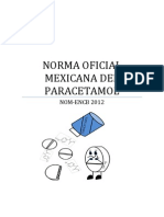 Norma Oficial Mexicana Del Paracetamol