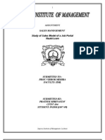 sales Modal of a job portal