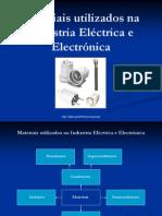 materiais utilizados na industria eléctrica e electrónica