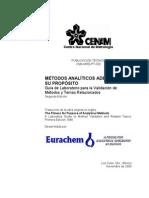 Eurachem Guia Validacion CNM MRD 030 2da Ed