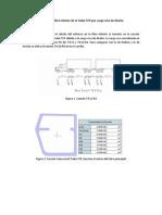 Cálculo del Esfuerzo en fibra inferior de la trabe TCP por carga viva de diseño