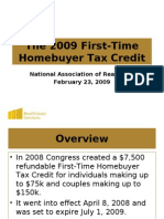 2009 First Time Homebuyer Tax Credit 2-23-09