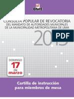 Cartilla Provincial Lima