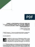 Sobre-La-Indeterminación-Del-Derecho-Y-La-Ley-Constitucional (Conceptos Juridicos Indeterminados) DyL-2002-VII-11-DelReal