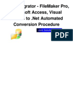 FmPro Migrator DotNet Conversion Procedure