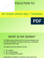 6 Sigma Green Belt Introduction English