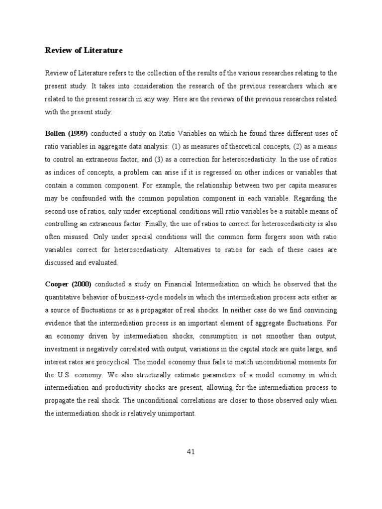 literature review of financial statement analysis paper