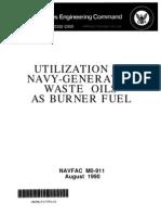Navy Doc Oil as Burner Fuel