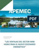 Apemec Cigre, Ventajas Del Sector Mini-hidro en Energia, Nov.2011