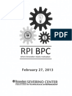 RPI 2013 Business Plan Competition Program (Final Round on 2-27-2013)