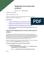 Uso Del Administrador de Recursos Del Servidor de Archivos